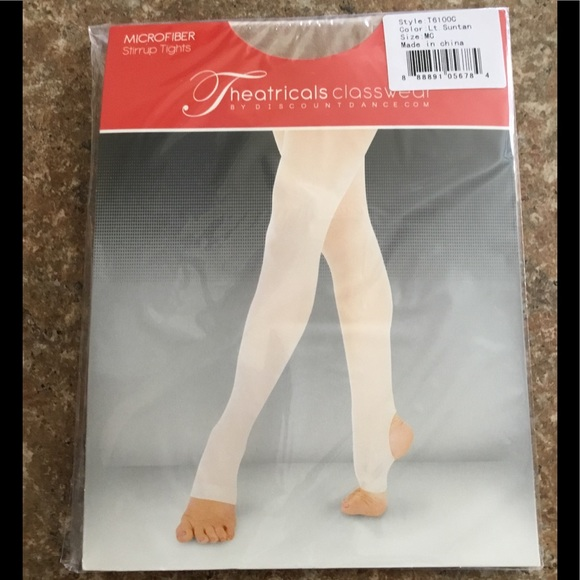 a5f1fb929d0b6 discount dance Other - Little Girls Skin Colored Stirrup Dance Tights NWT
